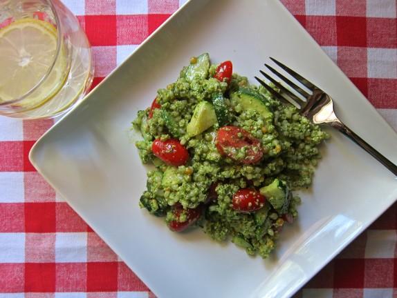 Recipe: Spinach pesto couscous