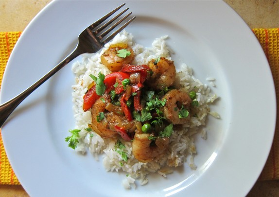 Recipe: Shrimp curry with coconut rice