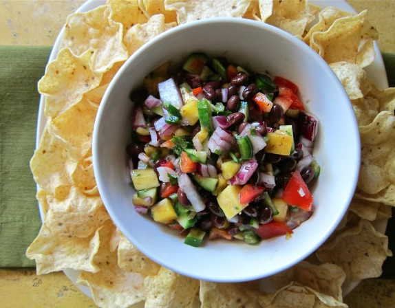 Recipe: Black bean and mango salsa