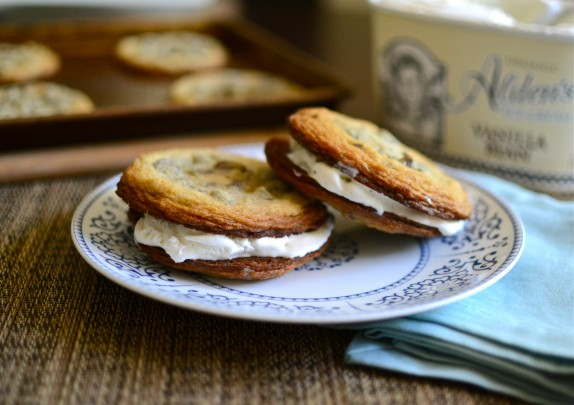 Recipe: Malted chocolate chip ice ceam sandwiches