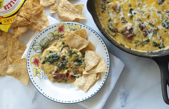 Recipe: Bacon, spinach and cheddar cheese dip