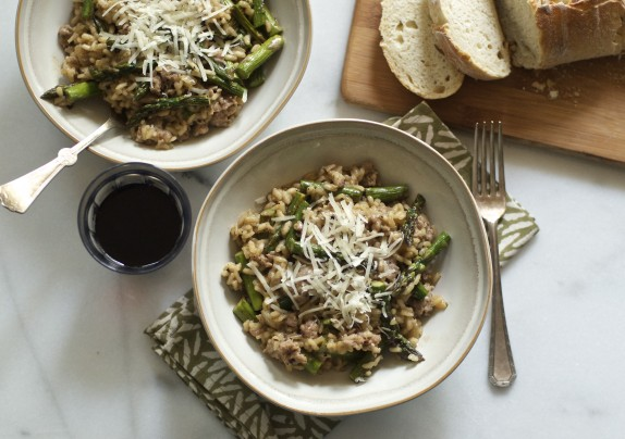 Recipe: Sausage and asparagus risotto