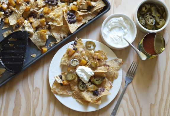 Roasted Butternut Squash & Black Bean Nachos