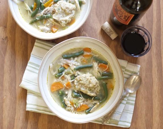 Thanksgiving Leftover Turkey & Dumpling Soup