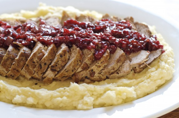Rosemary Pork Loin with Cranberries