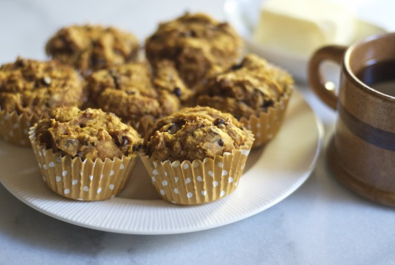 Pumpkin & Chocolate Chip Muffins